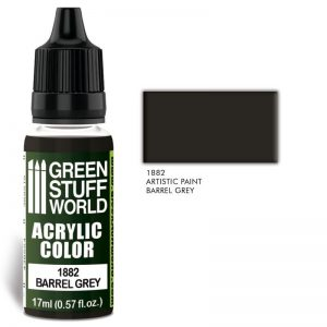 Green Stuff World   Acrylic Paints Acrylic Color BARREL GREY - 8436574502411ES - 8436574502411