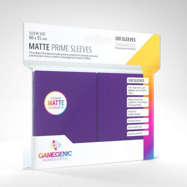 Gamegenic   SALE! Gamegenic Matte Prime Sleeves Purple (100 pack) - GGS11033ML - 4251715402498