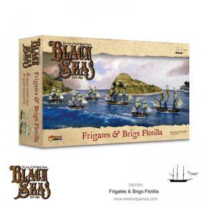 Warlord Games Black Seas  Black Seas Black Seas: Frigates & Brigs Flotilla (1770-1830) - 792010001 - 5060572505131