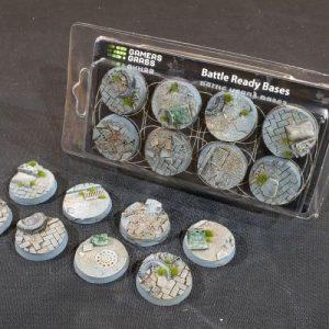 Gamers Grass   Battle-ready Urban Warfare Urban Warfare Bases Round 32mm (x8) - GGB-UWR32 - 738956789358