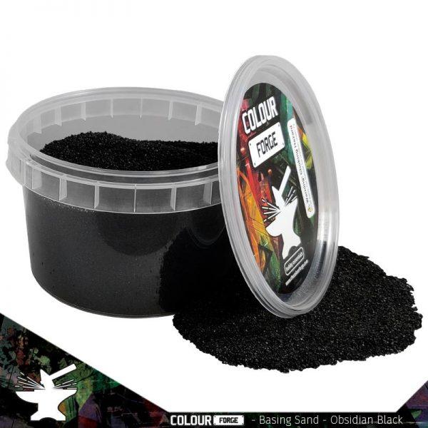 The Colour Forge   Sand & Flock Basing Sand - Obsidian Black (275ml) - TCF-BAS-006 - 5060843100799