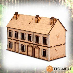 TTCombat   World War Scenics 25mm City 2 Storey Terrace - TTSCW-WAR-044 -