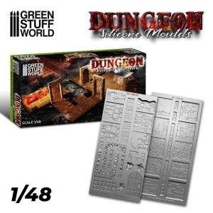 Green Stuff World   Mold Making Dungeon Silicone mould - 8436574507423ES -
