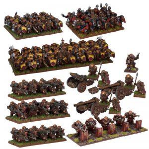 Mantic Kings of War  Dwarf Armies Dwarf Mega Army (2017) - MGKWD111 - 5060469661438