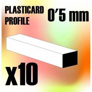 Green Stuff World   Plasticard ABS Plasticard - Profile SQUARED ROD 0,5mm - 8436554367320ES - 8436554367320