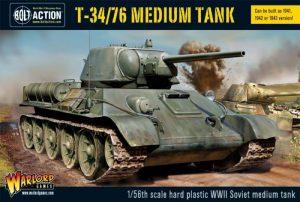 Warlord Games Bolt Action  Soviet Union (BA) Soviet T34/76 Medium Tank (plastic) - 402014007 - 5060200845745