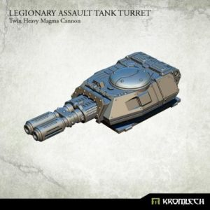 Kromlech   Legionary Conversion Parts Legionary Assault Tank Turret: Twin Heavy Magma Cannon - KRVB045 - 5902216116467