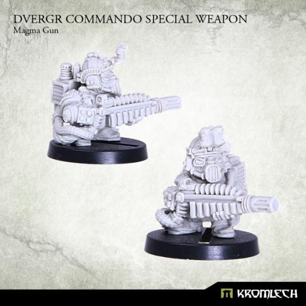 Kromlech   Dvergr Model Kits Dvergr Commando Special Weapon: Magma Gun (1) - KRM097 - 5902216113848