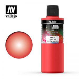 Vallejo   Premium Airbrush Colour AV Vallejo Premium Color - 200ml - Candy Red - VAL63074 - 8429551630740