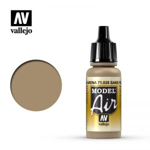 Vallejo   Model Air Model Air: Sand Yellow - VAL028 - 8429551710282