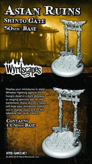 Wyrd   Asian Ruins Wyrdscapes Asian Ruins 50mm Base III - Shinto Gate - WYRWS012 - 813856018750