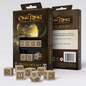 Q-Workshop   Q-Workshop Dice The One Ring RPG 6D6 + D12 Deluxe Dice set (7) - CB71020 - 9780857443069