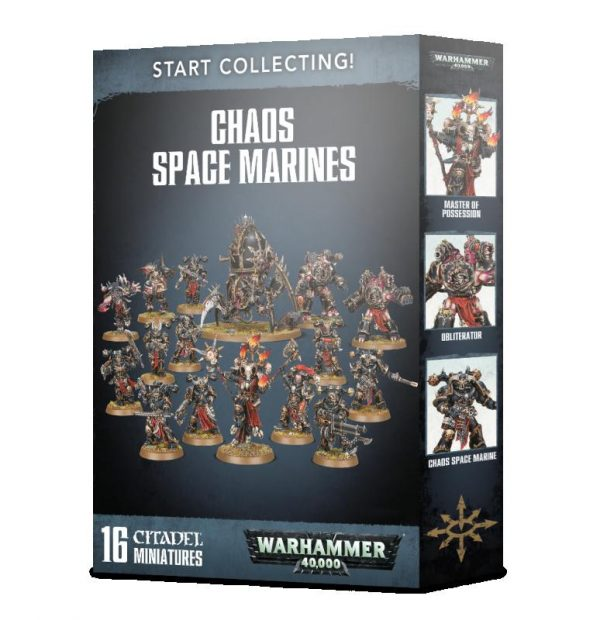 Games Workshop Warhammer 40,000  Chaos Space Marines Start Collecting! Chaos Space Marines - 99120102108 - 5011921125296