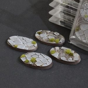 Gamers Grass   Battle-ready Temple Bases Temple Bases Oval 60mm (x4) - GGB-TO60 -