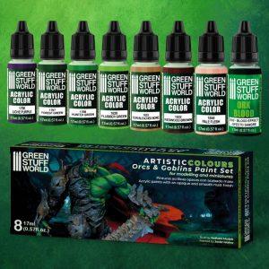 Green Stuff World   Paint Sets Paint Set - Orcs and Goblins - 8436574506235ES - 8436574506235