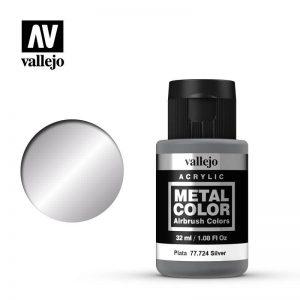 Vallejo   Metal Colour Metal Color - Silver 32ml - VAL77724 - 8429551777247