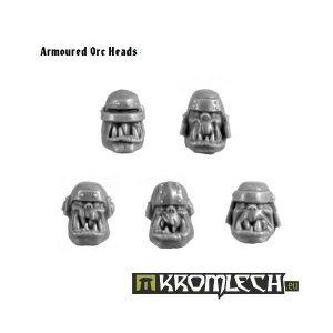 Kromlech   Orc Conversion Parts Armoured Orc Heads (10) - KRCB093 - 5902216110915