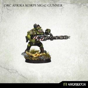 Kromlech   Orc Model Kits Orc Africa Korps MG42 Gunner - KRM038 - 5902216111615