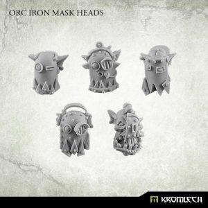 Kromlech   Orc Conversion Parts Orc Iron Mask Heads (10) - KRCB163 - 5902216113688