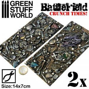Green Stuff World   Modelling Extras Battlefield Plates - Crunch Times! - 8436574503562ES - 8436574503562