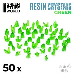 Green Stuff World   Green Stuff World Conversion Parts GREEN Resin Crystals - Medium - 8436574508888ES - 8436574508888