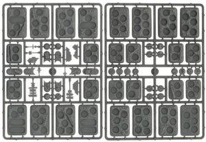 Gale Force Nine   Plain Bases Flames of War: Plastic Bases (Rubble) - XX106 - 9420020217256