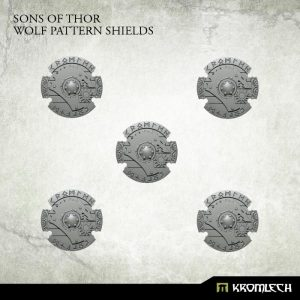 Kromlech   Legionary Conversion Parts Sons of Thor Wolf Pattern Shields (5) - KRCB209 - 5902216116375