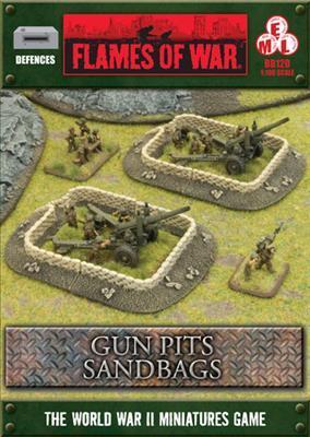 Gale Force Nine   Battlefield in a Box Flames of War: Sandbags Gun Pit Markers - BB120 - 9420020216693