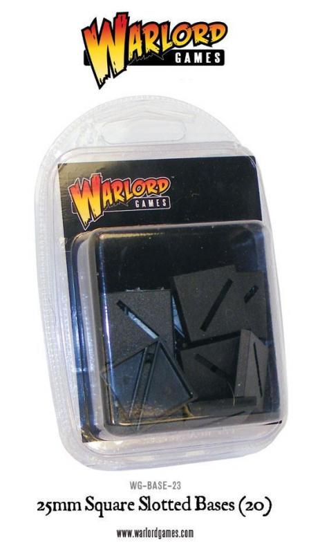 Warlord Games   Plain Bases 25mm Square Slotted bases (20) - WG-BASE-23 - 5060200848333