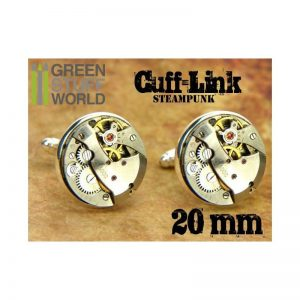 Green Stuff World   Costume & Cosplay Steampunk CUFFLINKS - 20 mm Round Movements - 8436554361717ES - 8436554361717