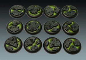 Baker Bases   Lava Lava: 30mm Wround Bases (12) - CB-LV-03-30M - CB-LV-03-30M