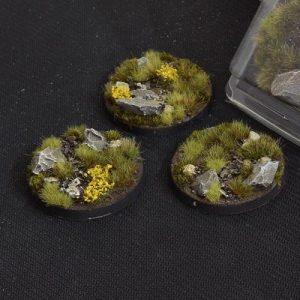 Gamers Grass   Battle-ready Highland Bases Highland Round 50mm (x3) - GGB-HLR50 -