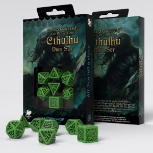 Q-Workshop   Q-Workshop Dice Call of Cthulhu The Outer Gods Cthulhu Dice Set (7) - SCTC60 - 5907699493593