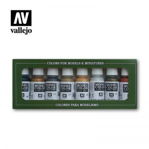Vallejo   Paint Sets Vallejo Model Color Set - Metallics (x8) - VAL70118 - 8429551701181