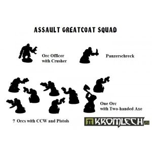 Kromlech   Orc Model Kits Orc Assault Greatcoat Squad (10) (Armoured bodies) - KRM071 - 5902216112612