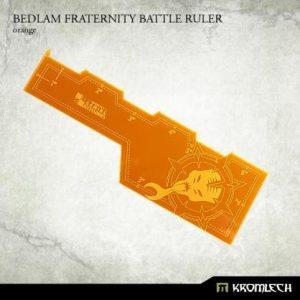 Kromlech   Tapes & Measuring Sticks Bedlam Fraternity Battle Ruler [orange] (1) - KRGA037 - 5902216114326
