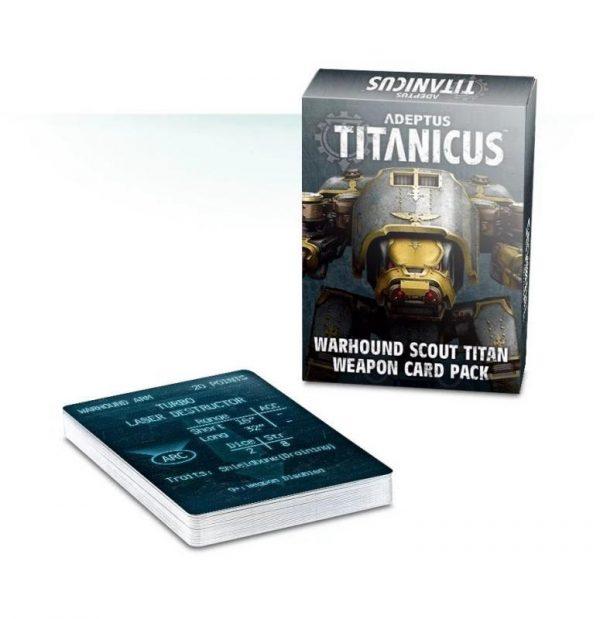 Games Workshop (Direct) Adeptus Titanicus  40k Direct Orders Adeptus Titanicus: Warhound Scout Titan Weapon Card Pack - 60220399008 - 5011921107391