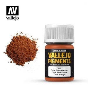 Vallejo   Pigments Vallejo Pigment - Dark Red Ocre - VAL73107 - 8429551731072