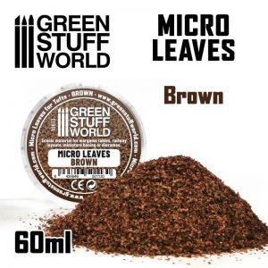 Green Stuff World   Lichen & Foliage Micro Leaves - Brown mix - 8435646501130ES - 8435646501130