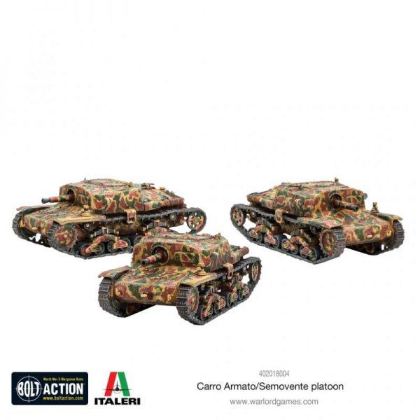 Warlord Games Bolt Action  Italy (BA) Italian Carro Armato & Semovente Platoon - 402018004 - 5060572502987