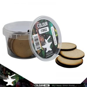 The Colour Forge   MDF Bases MDF Bases - 50mm Round (25) - TCF-MDF-50R - 5060843100393