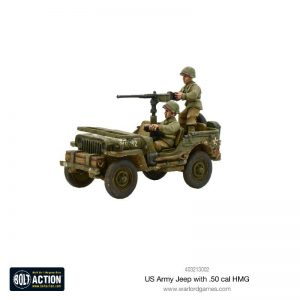 Warlord Games Bolt Action  United States of America (BA) US Army Jeep with 50 Cal HMG - 403213002 - 5060393709299