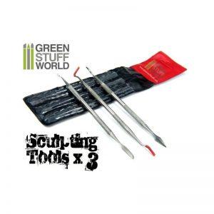 Green Stuff World   Green Stuff World Tools 3x Sculpting Tools - 8436554360116ES - 8436554360116
