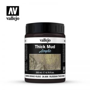 Vallejo   Weathering Effects Vallejo Weathering Effects 200ml - Russian Thick Mud - VAL26808 - 8429551268080