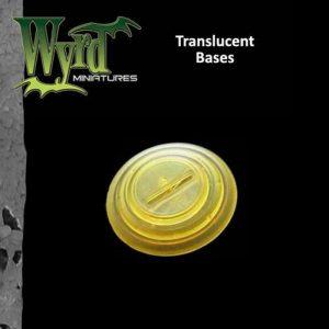 Wyrd   Translucent Bases Gold 30mm Translucent Bases - 10 Pack - WYR0058 - 813856013939