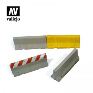 Vallejo   Vallejo Scenics Vallejo Scenics - 1:35 Concrete Barriers - VALSC214 - 8429551984843