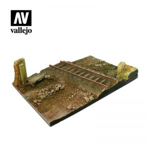 Vallejo   Vallejo Scenics Vallejo Scenics - 1:35 Country Railway Crossroads 31cm x 21cm - VALSC104 - 8429551983549
