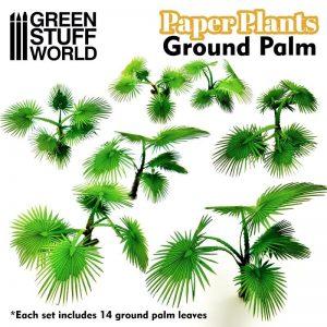 Green Stuff World   Plants & Flowers Paper Plants - Ground Palm - 8436574508635ES - 8436574508635