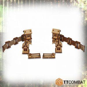 TTCombat   World War Scenics 15mm Checkpoint - TTSCW-WAR-011 -
