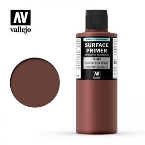 Vallejo   Model Air Primers AV Polyurethane - Primer Ger man Red Brown (RAL 8012) 200ml - VAL74605 - 8429551746052